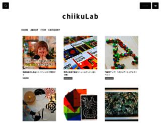chiikulab.stores.jp screenshot