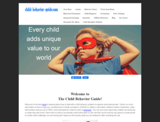 child-behavior-guide.com screenshot
