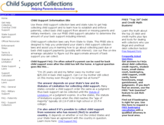 child-support-collections.com screenshot