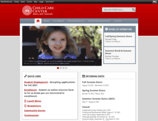 childcarecenter.ilstu.edu screenshot
