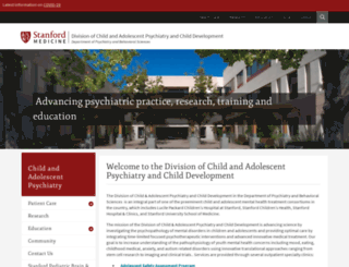 childpsychiatry.stanford.edu screenshot