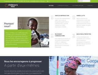 children-voice.org screenshot
