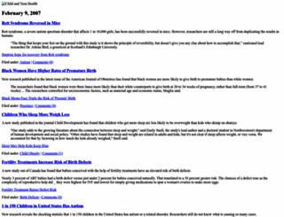 children.healthdiaries.com screenshot