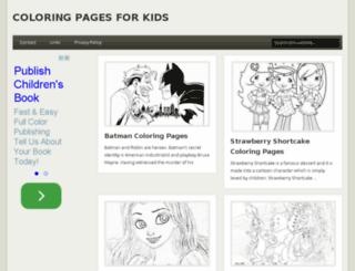childrencolouringpages.com screenshot