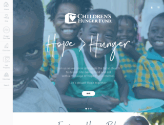 childrenshungerfund.org screenshot