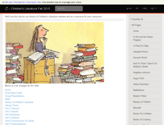 childrenslitfall2015.wikispaces.com screenshot