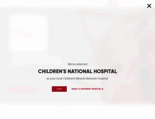 childrensmiraclenetworkhospitals.org screenshot