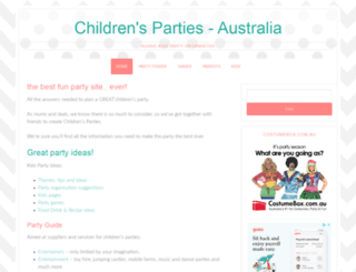 childrensparties.com.au screenshot