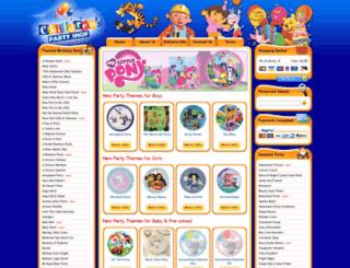 childrenspartyshop.co.uk screenshot