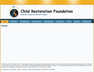 childrestorationfoundation.org screenshot