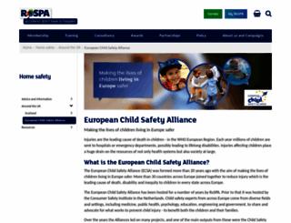 childsafetyeurope.org screenshot