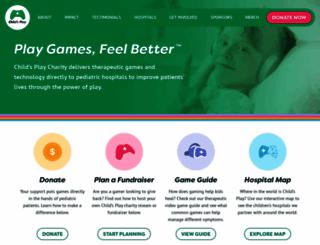 childsplaycharity.org screenshot