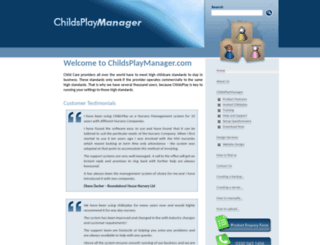 childsplaymanager.com screenshot