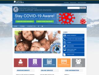 childsupport.alaska.gov screenshot