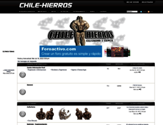chile-hierros.foroactivo.com screenshot
