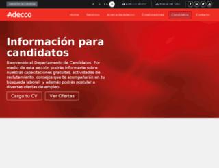 chile.adeccoempleo.com screenshot