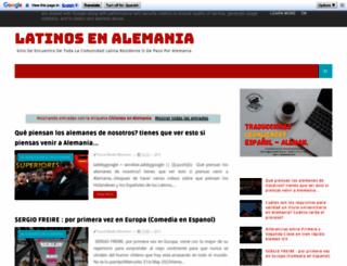 chilenosenalemania.de screenshot
