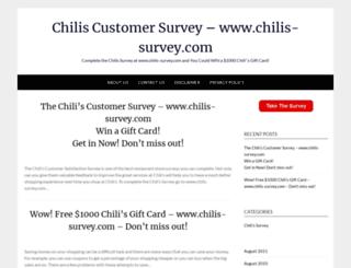 chilis-surveycom.com screenshot