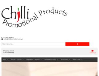 chillipromotionalpens.co.uk screenshot