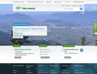 chilliwack.ca screenshot