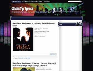 chillofylyrics.blogspot.com screenshot