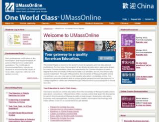 china.umassonline.net screenshot