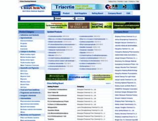 chinachemnet.com screenshot
