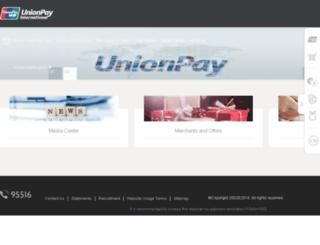 chinaunionpay.com screenshot