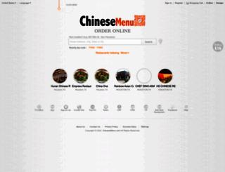 chinesemenu.com screenshot