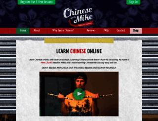 chinesewithmike.com screenshot