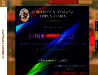 chinmayavidyalaya.edu.in screenshot