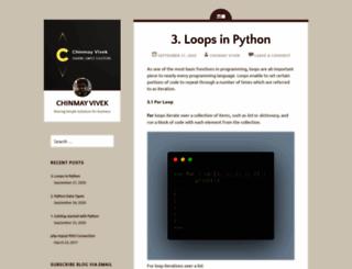 chinmayvivek.wordpress.com screenshot
