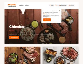 chinoise.migros.ch screenshot