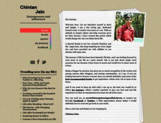 chintanjain.com screenshot