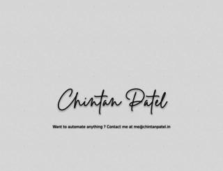 chintanpatel.in screenshot