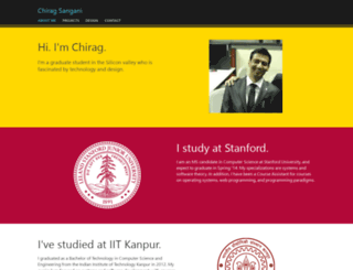 chiragsangani.com screenshot