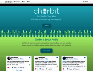 chirbit.com screenshot