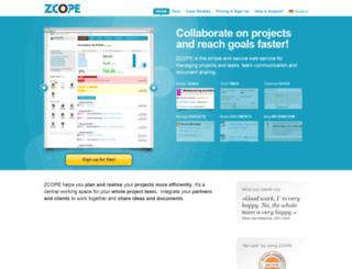 chirimoya.zcope-engine.com screenshot