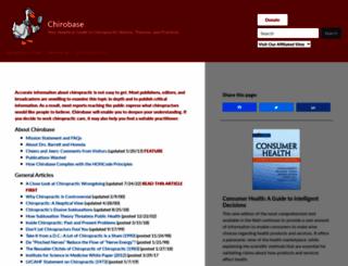 chirobase.org screenshot
