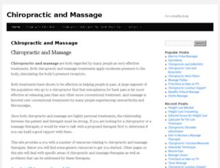 chiropracticandmassage.org screenshot