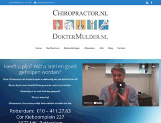 chiropractor.nl screenshot