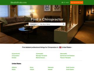 chiropractors.healthprofs.com screenshot