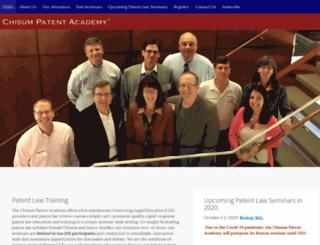 chisum-patent-academy.com screenshot
