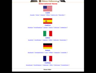 chitarra-online.com screenshot