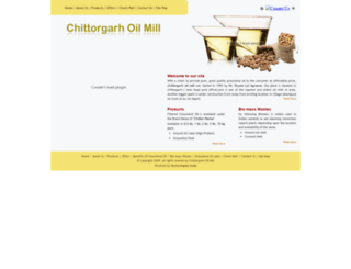 chittorgarhoilmill.com screenshot