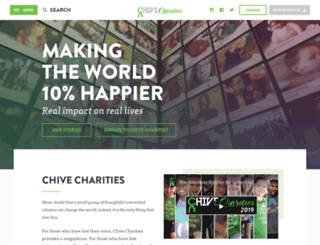 chivecharities.org screenshot
