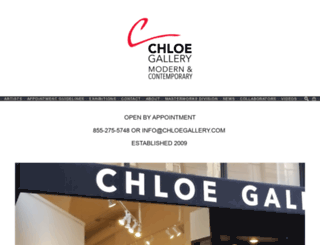 chloefinearts.com screenshot