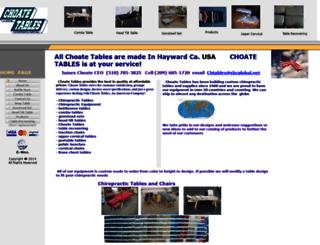 choatetables.com screenshot