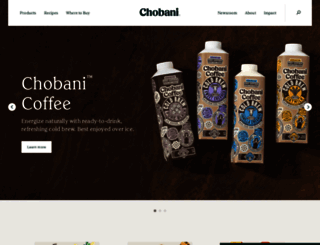 chobani.com screenshot