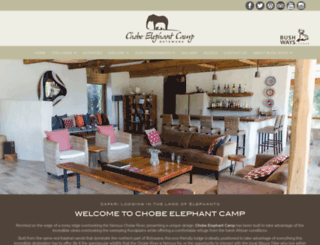 chobeelephantcamp.com screenshot